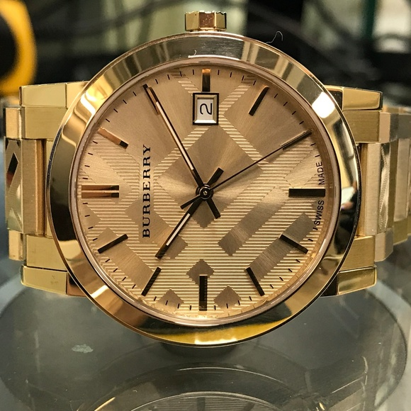 2be9a00ad5b Burberry Accessories   Gold Tone Steel Quartz Unisex Watch   Poshmark